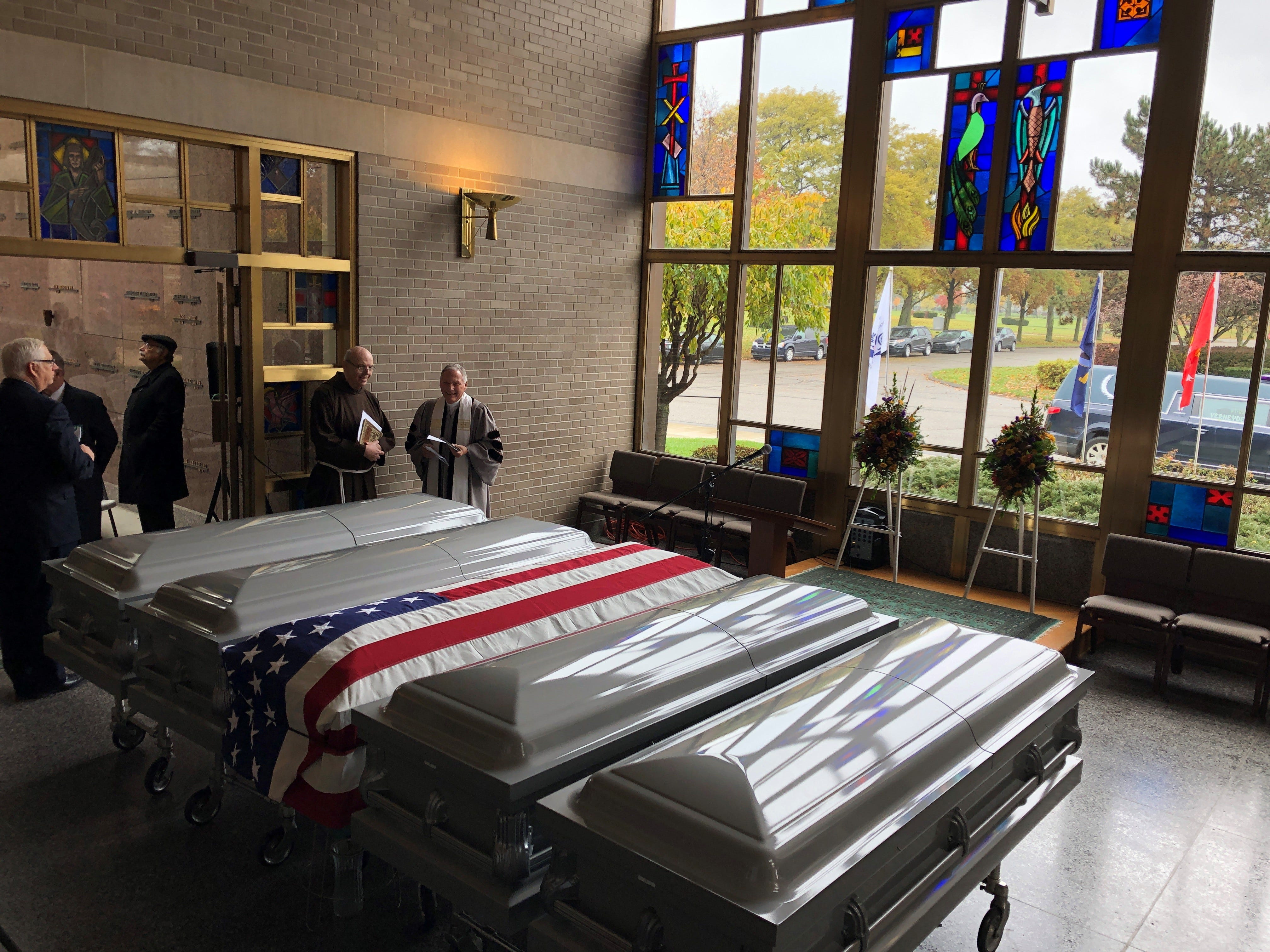 Live: Service for veterans' remains found at Cantrell Funeral Home