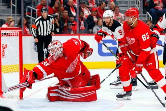 Nhl New Jersey Devils At Detroit Red Wings