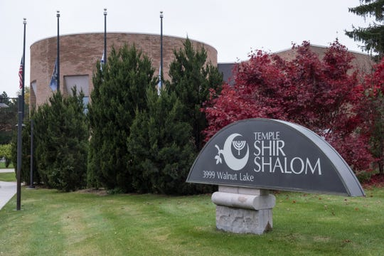 The Temple Shir Shalom in West Bloomfield is seen on Friday, November 2, 2018. On Saturday, Temple Shir Shalom in West Bloomfield will be holding Saturday Shabbat services with the support of the Catholic Archbishop of Detroit and an imam with the Islamic Center of America as a way to show support and solidarity.