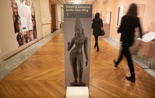 Detroit Institute of Arts opens the new Robert and Katherine Jacobs Asian Wing that includes art galleries for Chinese, Korean, Indian and Southeast Asian and Buddhist art. The media previews the wing Thursday, Nov. 1, 2018.