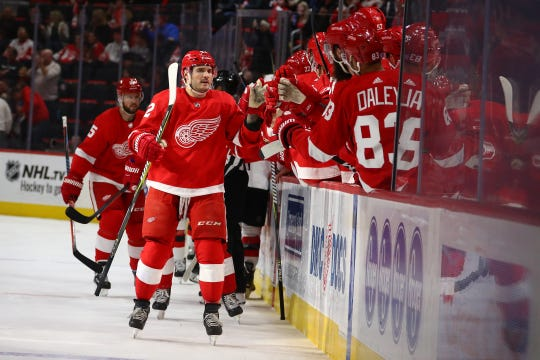 Martin Frk likely has celebrated his last NHL goal, as the Detroit Red Wings are sending him to the minors after he cleared waivers Thursday.