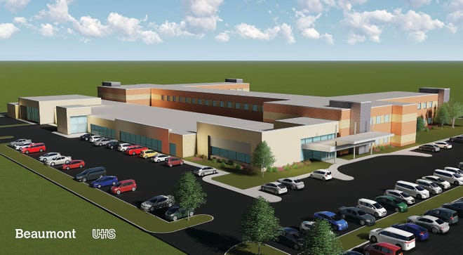 This is an artist's rendering of the new, $40 million mental health hospital Beaumont Health plans to build in Dearborn in partnership with Universal Health Services. Construction is to begin in early 2019 on eight acres of open land at Oakwood Boulevard and the Southfield Freeway.