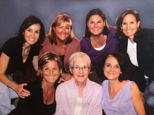 Gail Purtan and her six daughters.