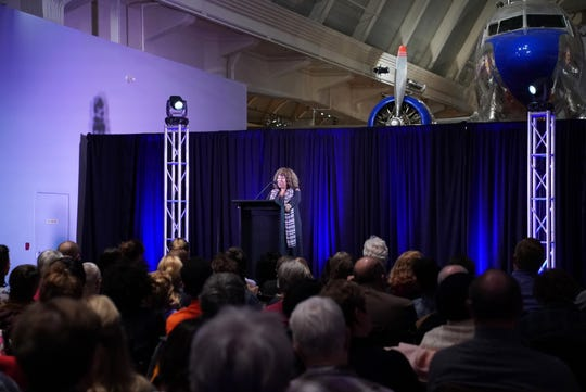 Ruby Bridges speaks at The Henry Ford Museum in Dearborn, Michigan on Thursday, November 1, 2018.