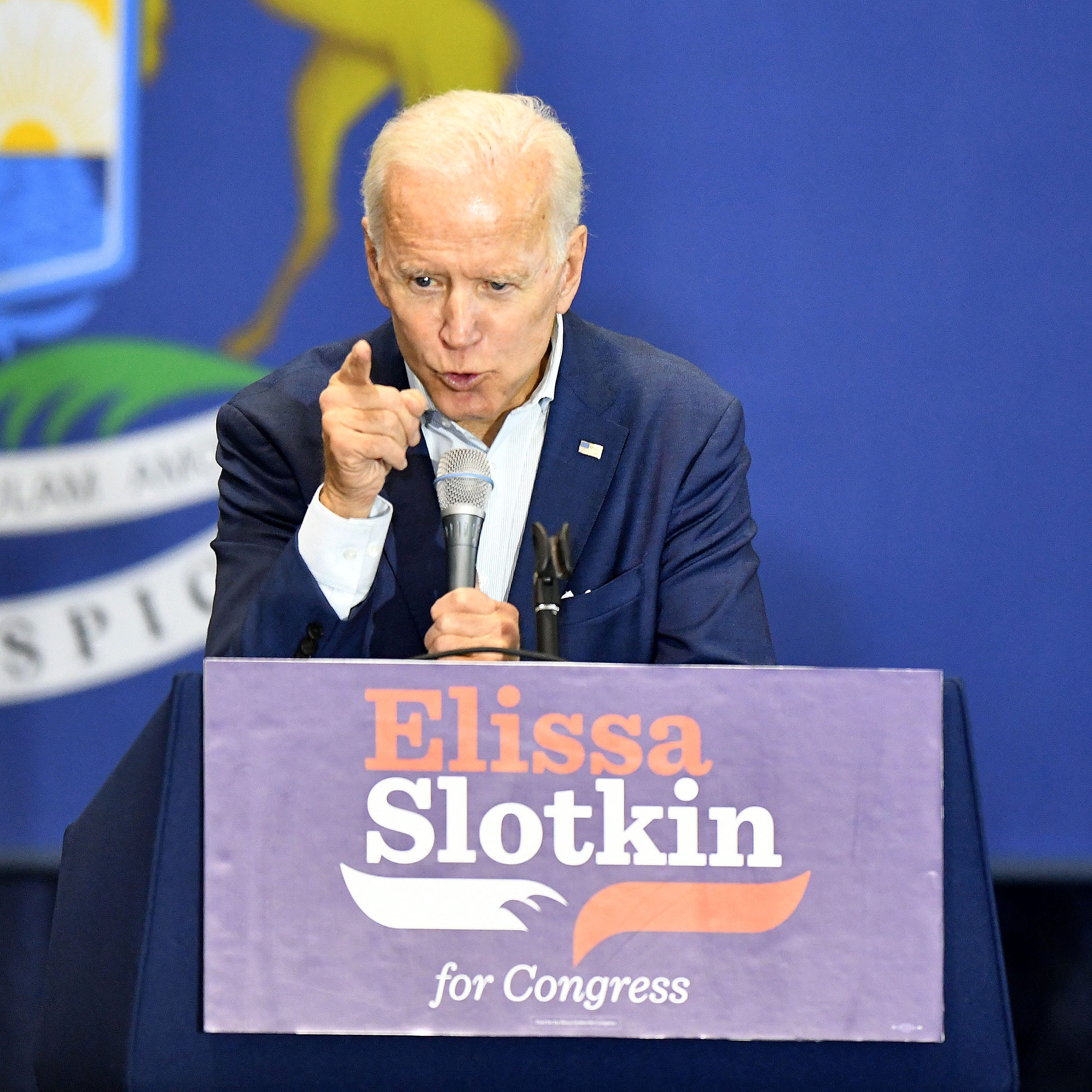 Biden in Michigan: 'Get the hell up. Go out and vote'