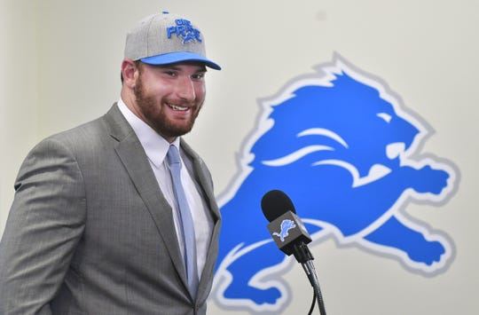 Detroit Lions 2018 first-round draft pick Frank Ragnow.