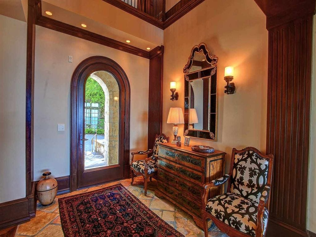 Despite being only 15 years old, the home has 300-year-old chestnut floors, 300-year-old Jerusalem stone flooring and a 13th century French fireplace.