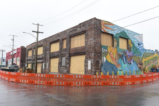 The Detroit Wholesale Produce building on the corner of Riopelle at Adelaide will feature street-level store fronts and second-floor residential units at Eastern Market.
