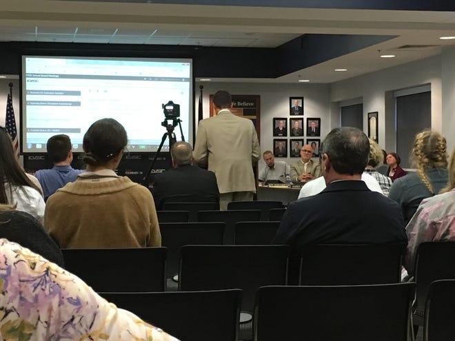 The EVSC School Board at a regular Oct. 29 meeting.