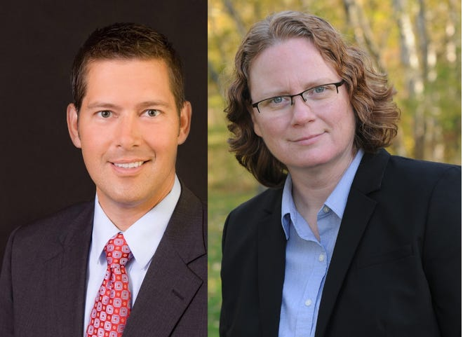 Republican Sean Duffy and Democrat Margaret Engebretson, candidates for Wisconsin's 7th Congressional District.