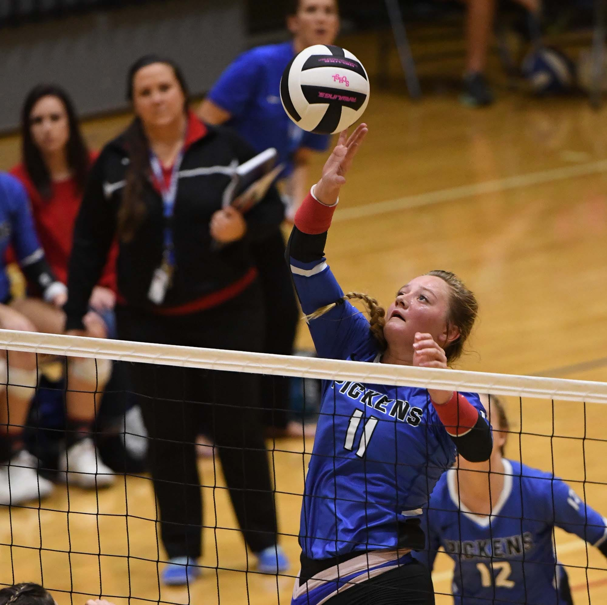 Pickens senior Lexi Wierzbicki (11) and the Blue Flame advanced to the Class AAAA state championship match where they were defeated by North Myrtle Beach.
