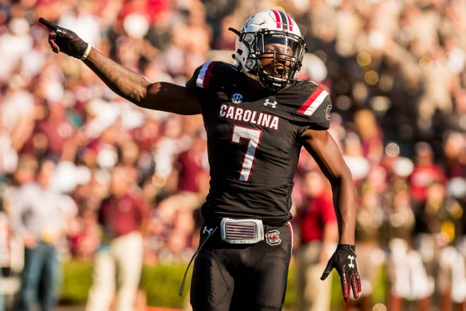 South Carolina defensive back Jaycee Horn (7) and the Gamecocks face Ole Miss, whichleads the SEC in passing offenseat 349.5 yards per game.