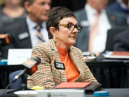 University of Tennesee Trustee Kim White at the Board of Trustees meeting on Friday, November 2, 2018.