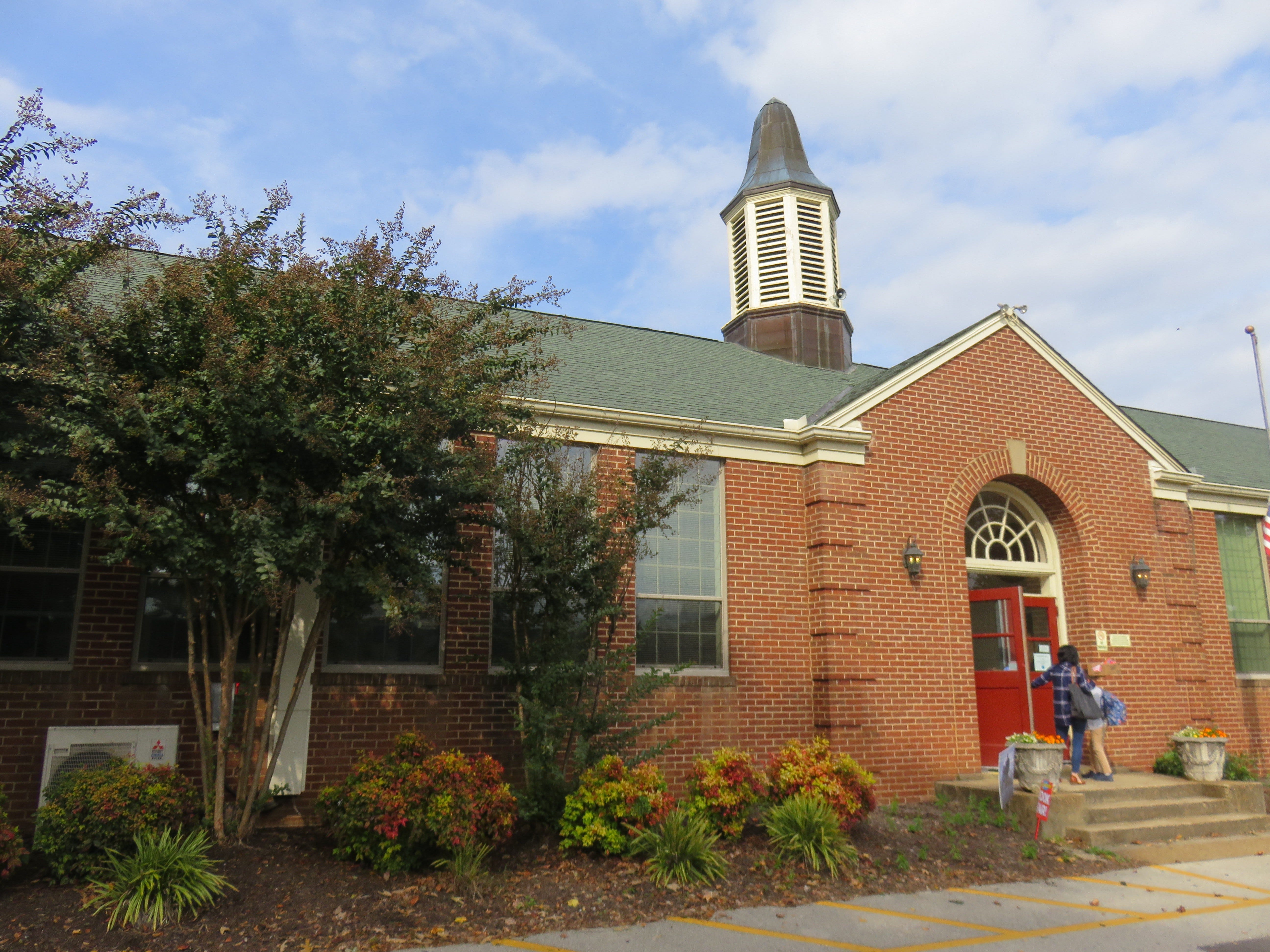 """Bearden Elementary School, shown on Oct. 31, 2018, features classic elementary school architecture. """"I like that it looks historic,"""" said first-grade teacher Ronda Hughes."""