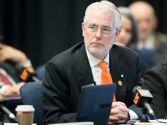 University of Tennessee Trustee Bill Rhodes during the Board of Trustees meeting on Friday, November 2, 2018.