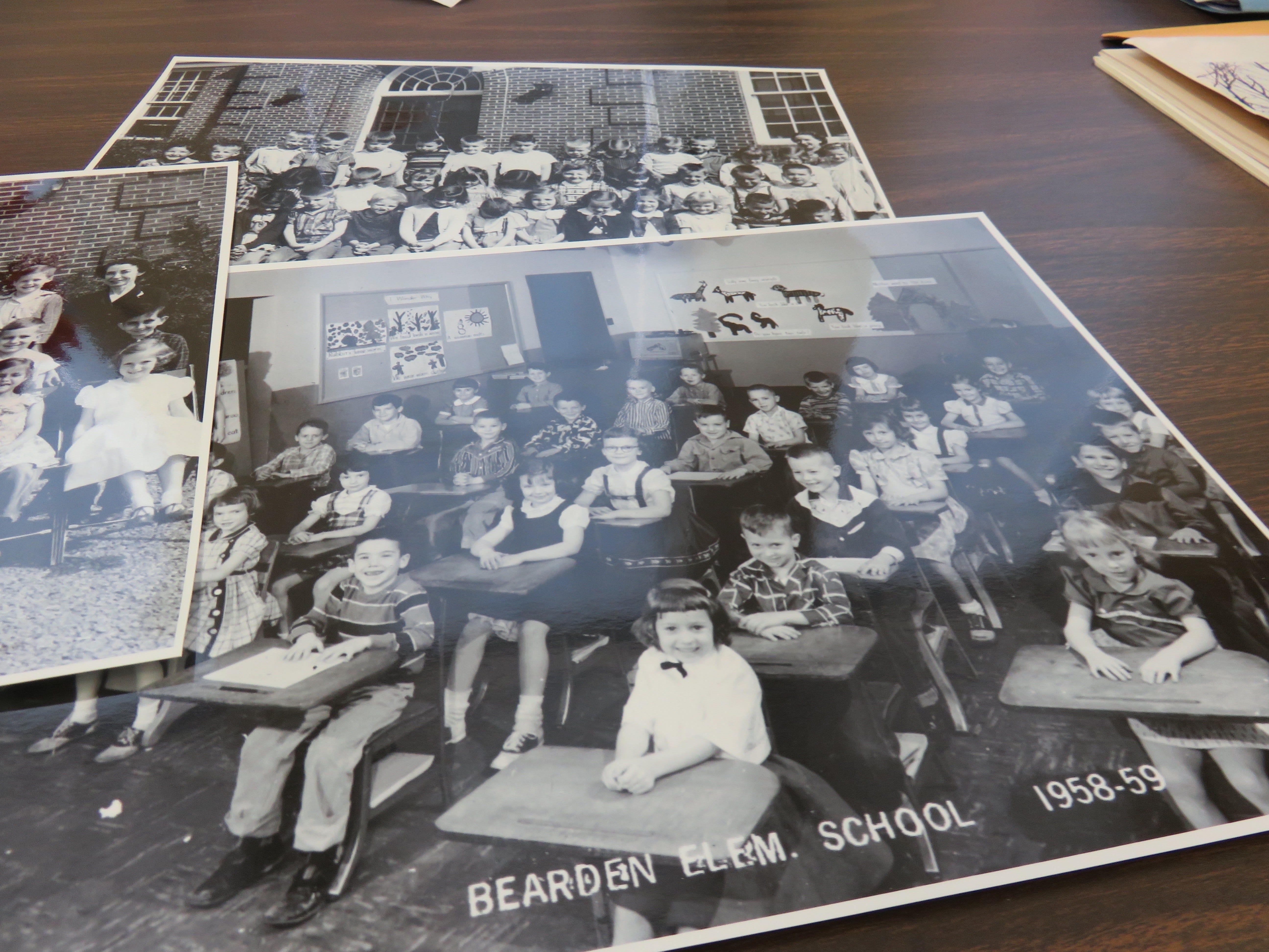 Old class photos from Bearden Elementary, 1958-1959.