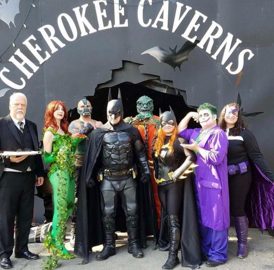 Fan favorite superheroes from Bam Pow Creations were out in force at the Cherokee Caverns Trick or Treat in the Cave Sunday, Oct. 28.
