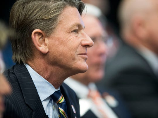 Incoming University of Tennessee president Randy Boyd at the Board of Trustees meeting on Friday, November 2, 2018.