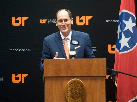 University of Tennessee Board of Trustees Chair John Compton during the trustee meeting on Friday, November 2, 2018.