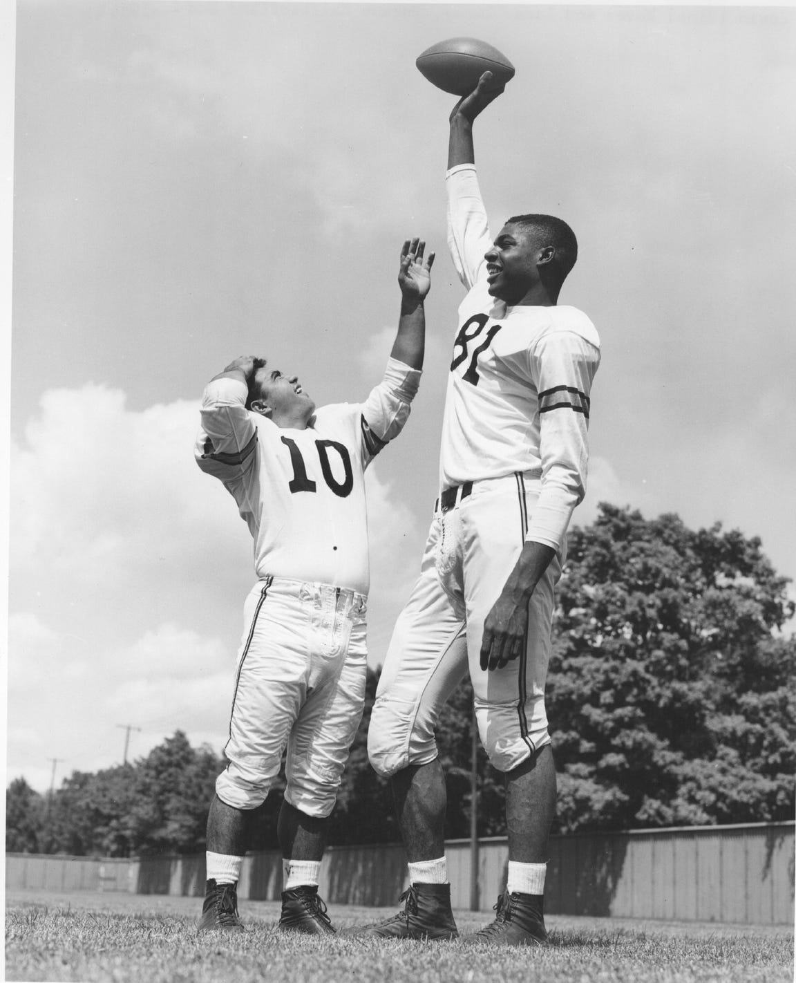 At 6-foot-7, Lamar Lundy was a big target for Purdue quarterback Len Dawson from 1954-56.