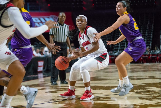 UL sophomore guard Jomyra Mathis is hoping to help the Ragin' Cajuns score more efficiently and consistently beat pressure at the Battle on the Border Tournament over the weekend in Edinburg, Texas.