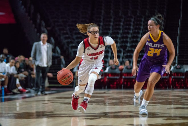 UL freshman guard Andrea Cournoyer scored 16 points with two rebounds, three assists and three steals in 28 minutes in her unofficial Division I debut.