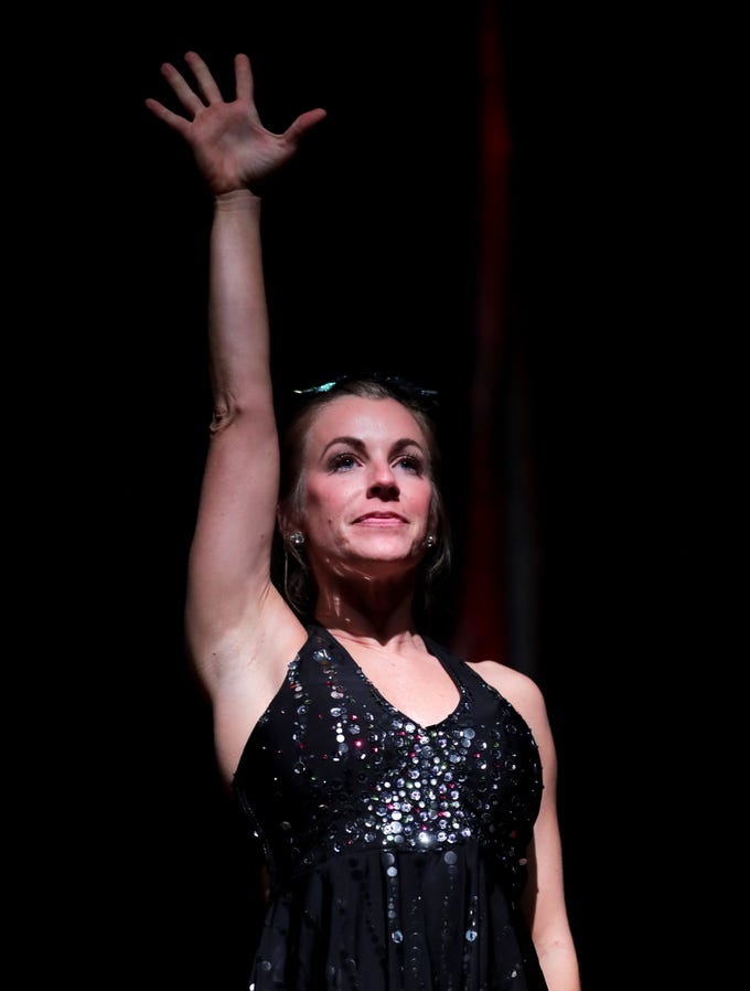 CirqueLouis' Abbie Springer rehearses for their new show called Gravity's Varieties. The show runs Nov. 3rd & 4th in the Kentucky Center's Bomhard Theater. Nov. 1, 2018