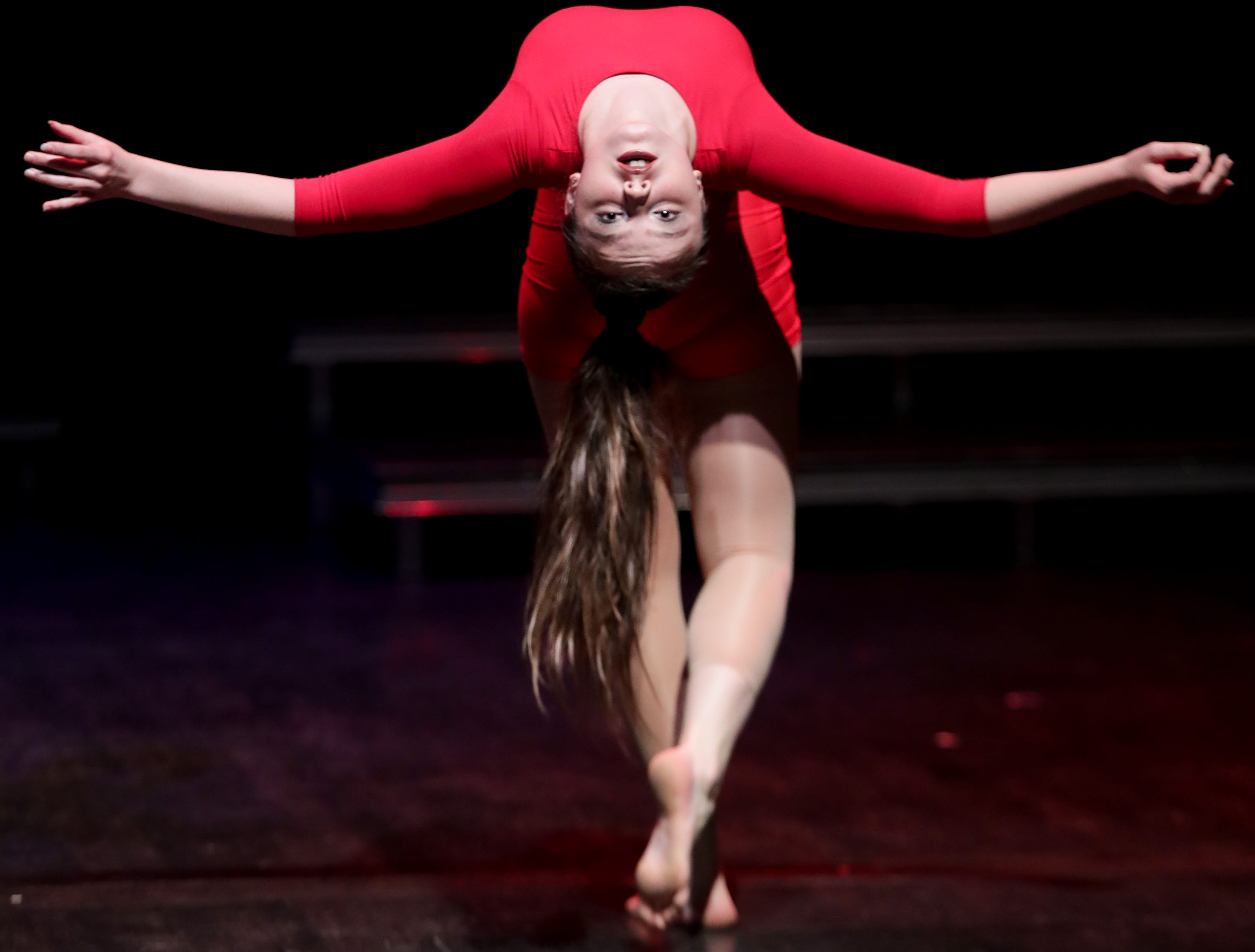 CirqueLouis' Ella Price rehearses for their new show called Gravity's Varieties. Nov. 1, 2018
