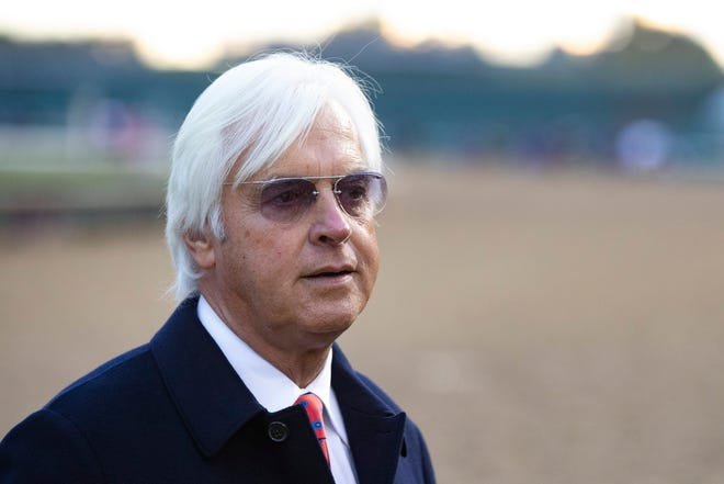 Trainer Bob Baffert, seen in this Nov. 2, 2018, file photo, has two horses competing in Santa Anita Park this weekend.