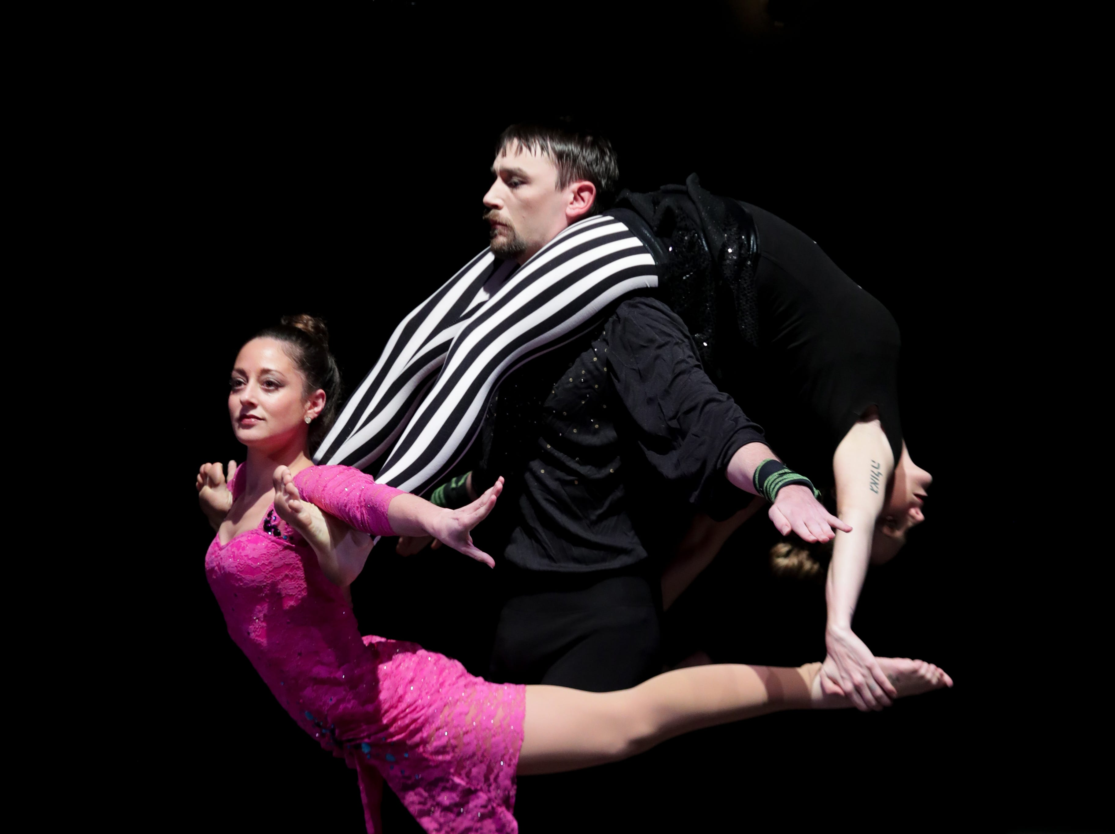 CirqueLouis' rehearses for their new show called Gravity's Varieties. Nov. 1, 2018