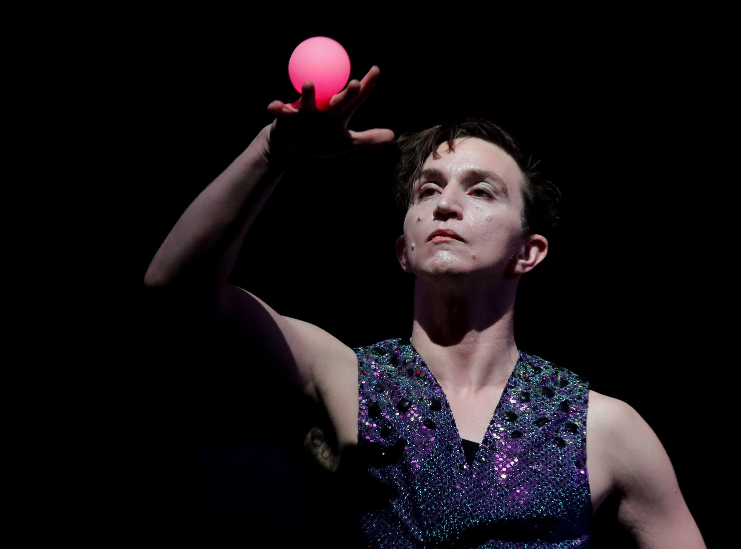 CirqueLouis' Asher Taylor-Dawson rehearses for their new show called Gravity's Varieties. Nov. 1, 2018