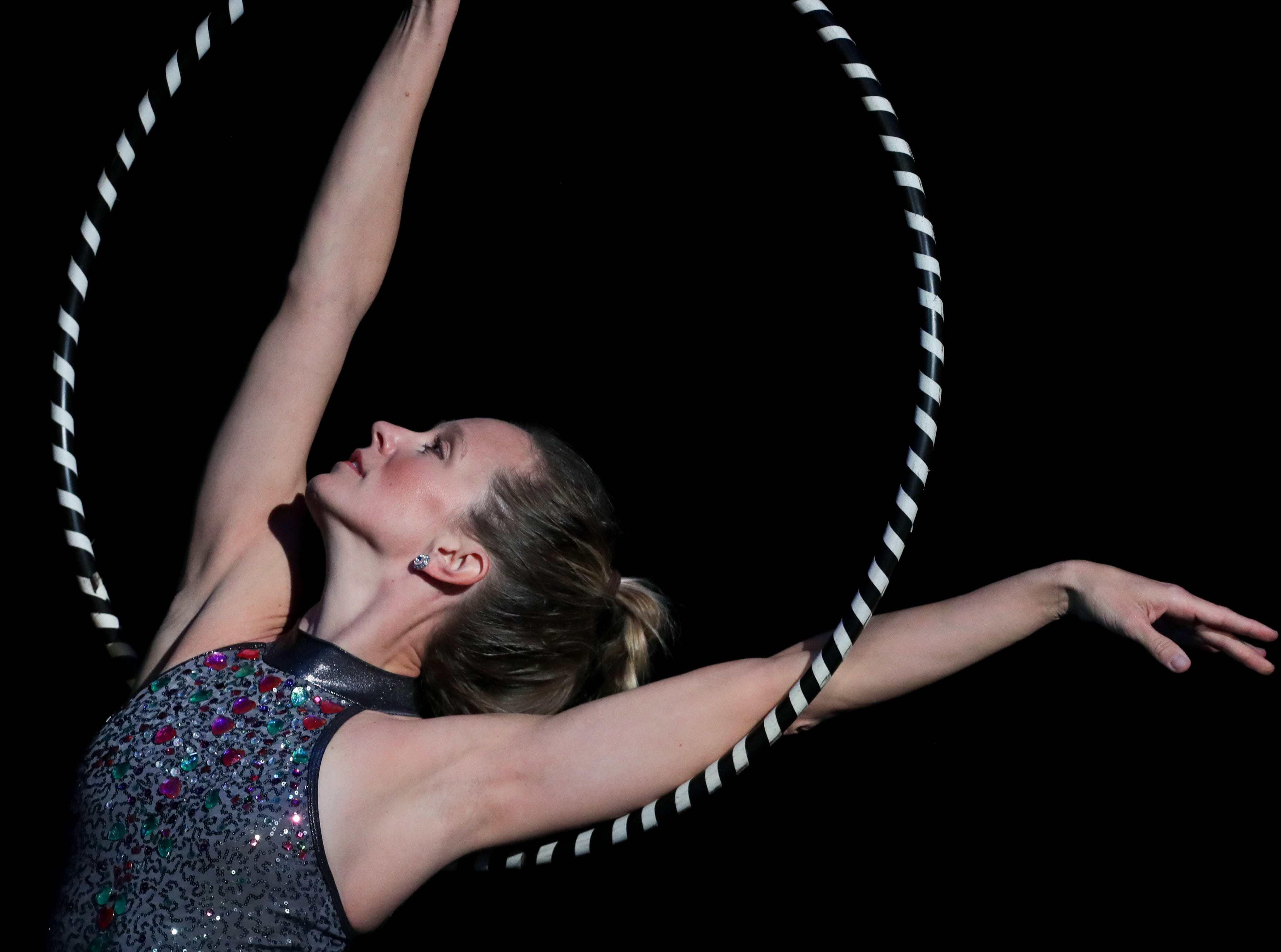 CirqueLouis' Emily Price rehearses for their new show called Gravity's Varieties. Nov. 1, 2018