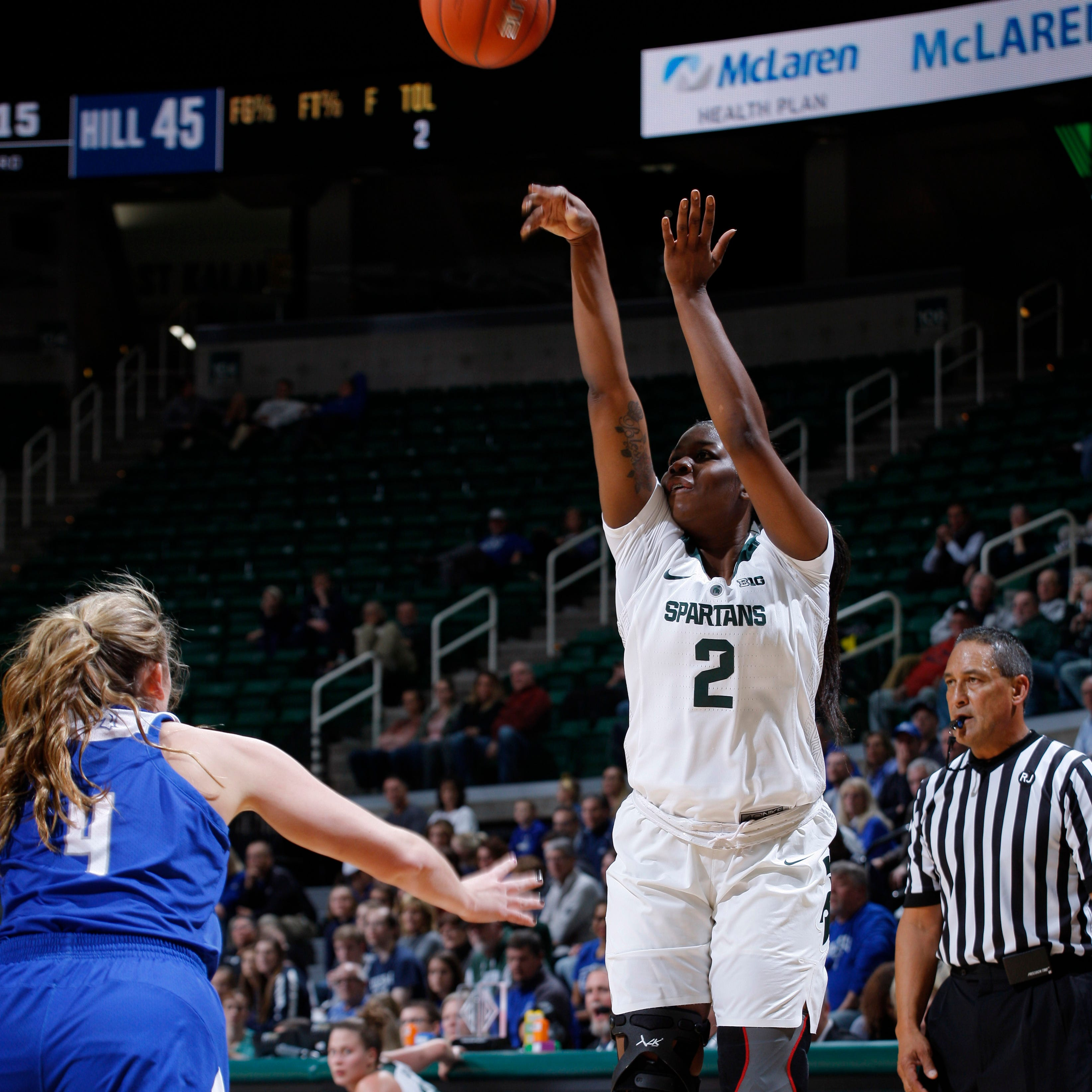Michigan State women cruise past East Tennessee State, 75-53