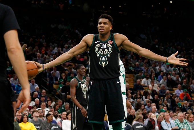 A look at the four jerseys in use by the Bucks in 2018-19