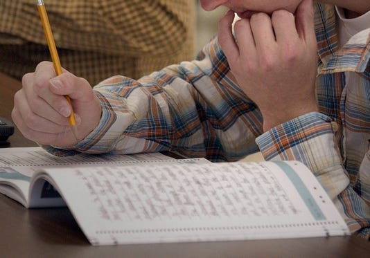Hartland Arrowhead High School Takes The State Standardized Tests