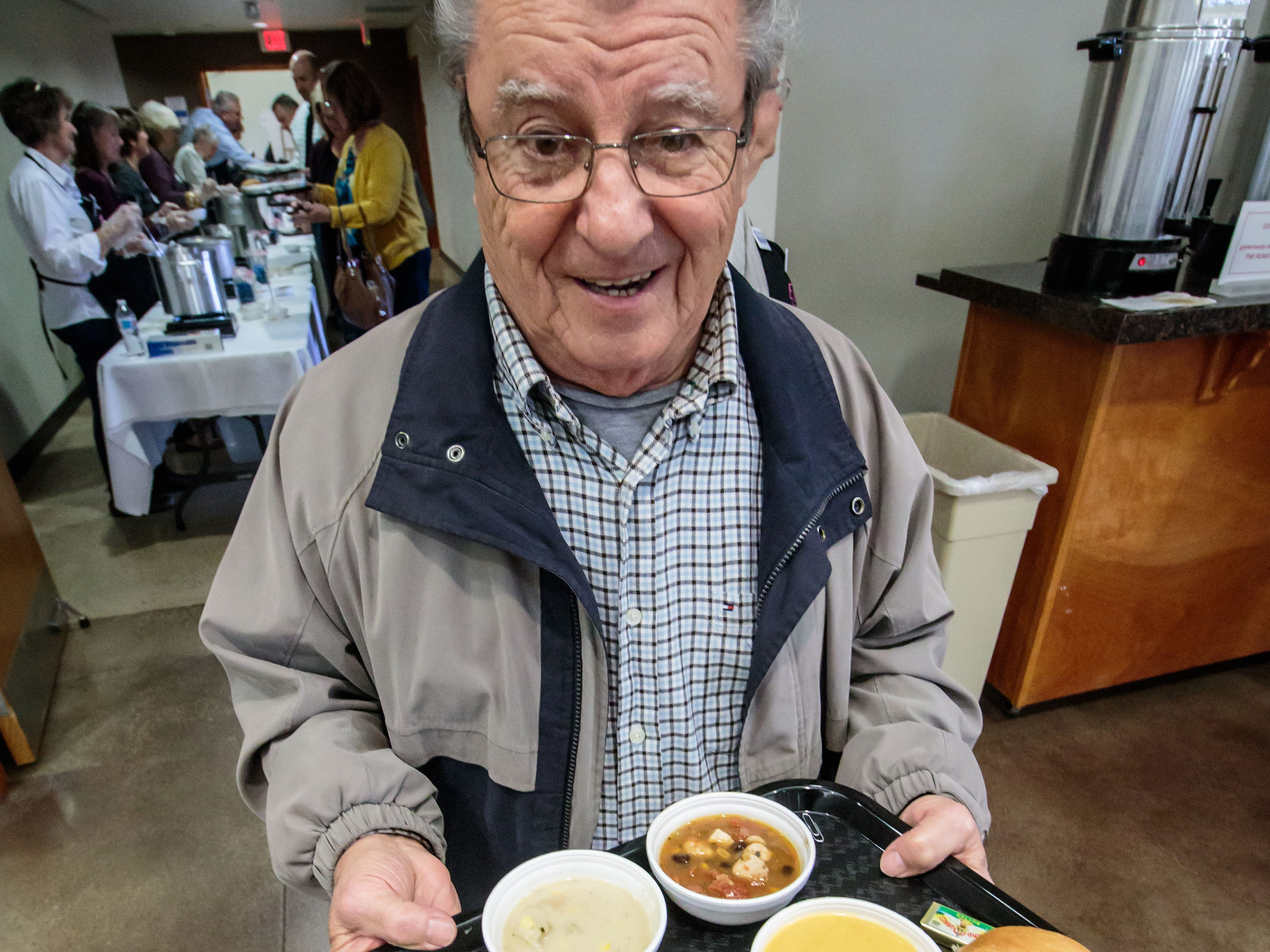 Franz Schmidt of Cedarburg takes part in the Empty Bowls fundraising event at the Ozaukee Pavilion in Cedarburg on Thursday, Nov. 1, 2018. Proceeds from the event will benefit Family Sharing's food pantry and provide 600 Ozaukee County families with Thanksgiving dinners.