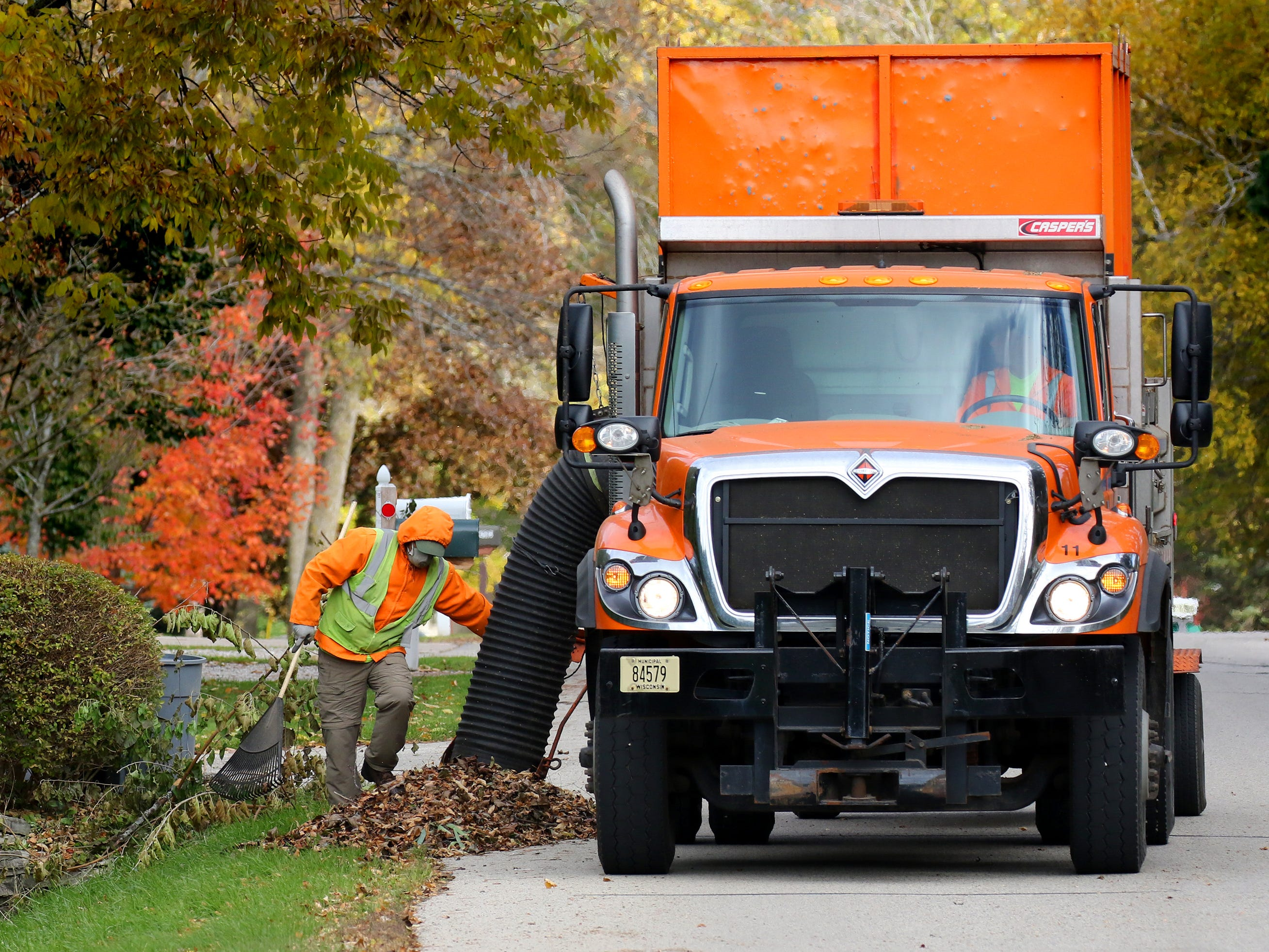 Village of Fox Point employees provide waste collection services from residents' driveways, along with yard waste collection and roadside leaf removal in the fall. Recycling collection is contracted out to a company.