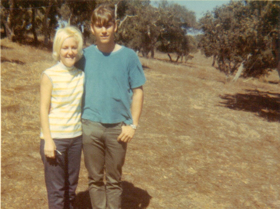 Donna and John Kleinmaus are pictured together after they met at Fort Ord, California.