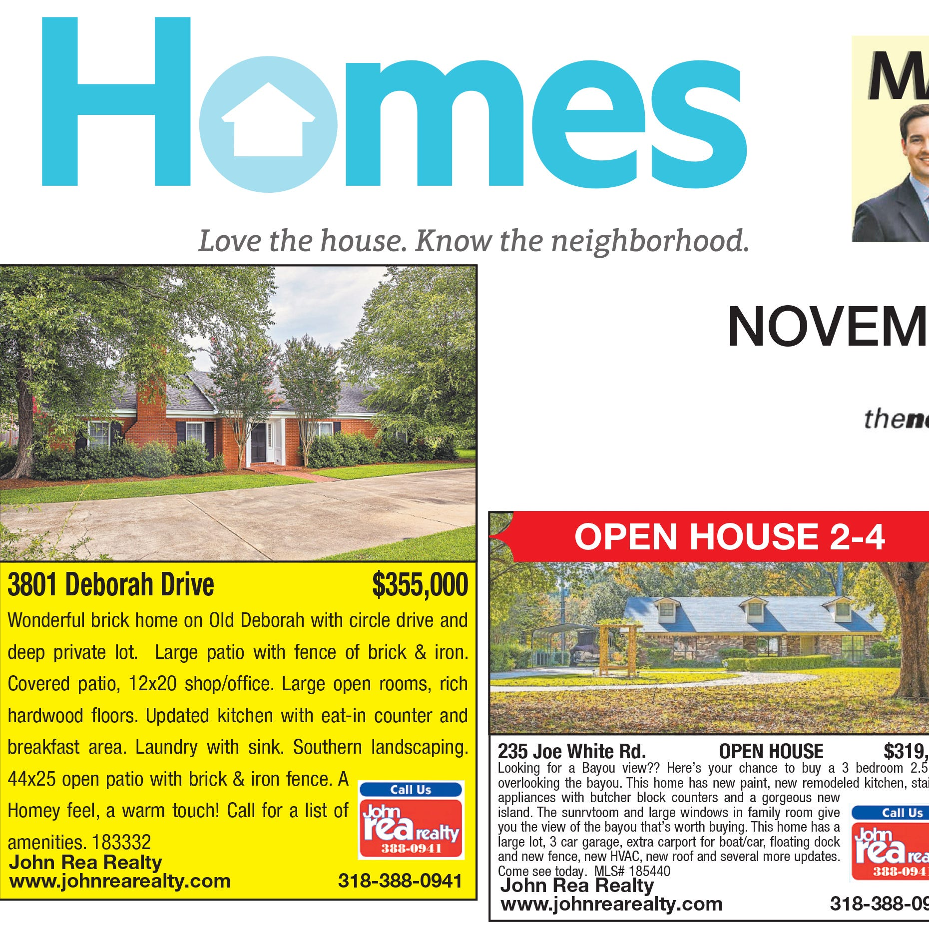 Homefinder: Nov. 4, 2018