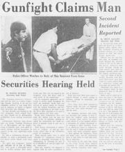 Original story about the Whitehurst shooting in the Montgomery Advertiser in 1975, which incorrectly stated the facts in the case