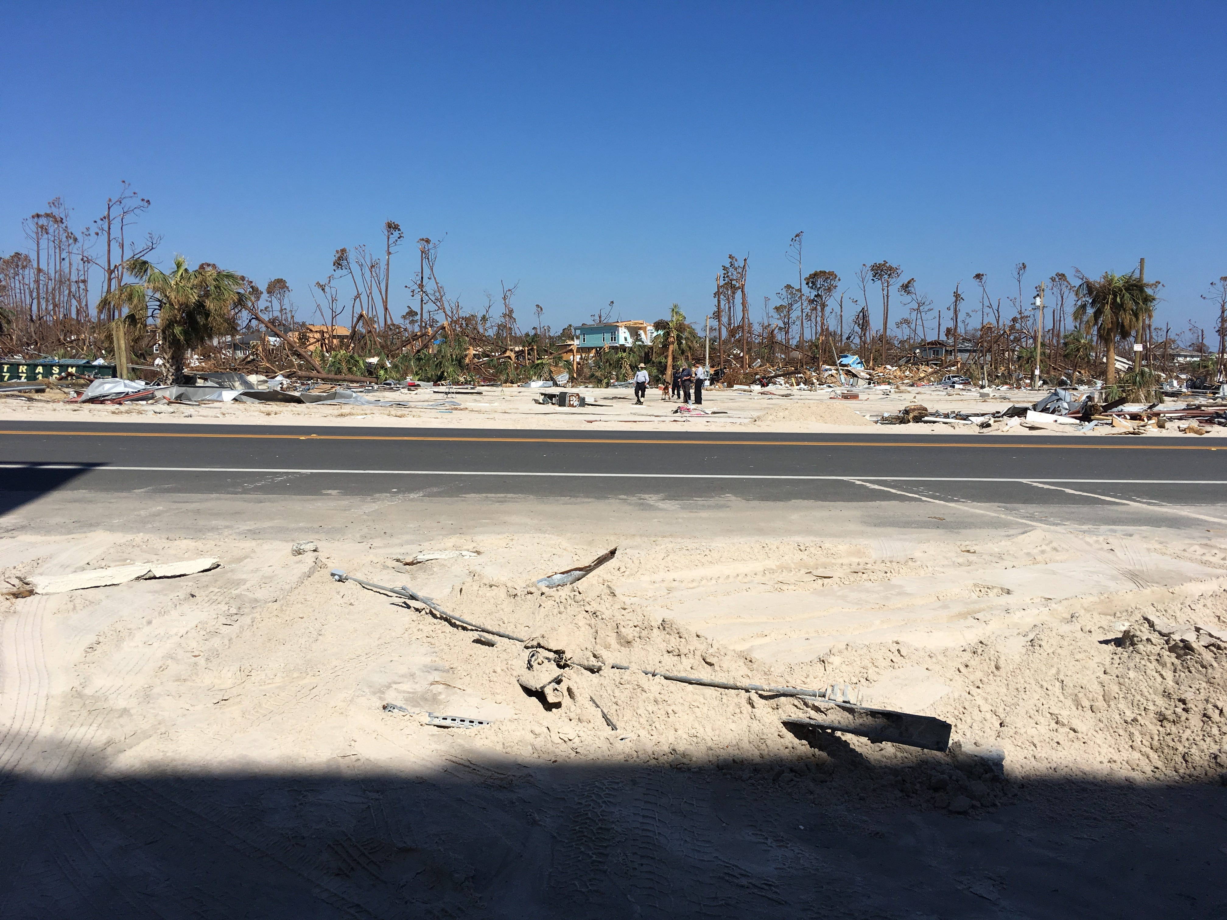 Don and Marsha Borgeson returned to Mexico City, Fla. where Hurricane Michael destroyed their home.