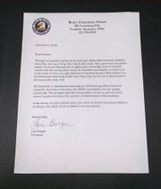 Moore Elementary School Principal Lisa Burgin sent parents this letter on Friday in response to concerns over gun safety literature penned by the National Rifle Association that was given to students.