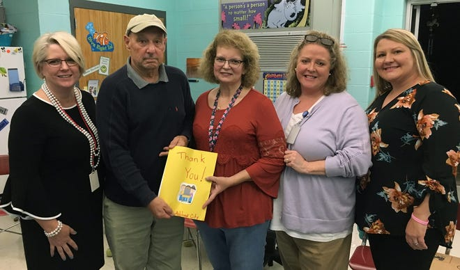 Retired educator Alan Kulkin donated $27,500 for Pre-K students to utilize touch-screen laptops in the classroom.