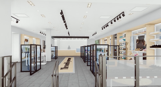 An artist's rendering of The Gathering Shops space at Westfield Garden State Plaza.