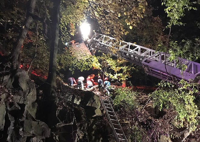 A New York man was rescued after falling off a cliff in Interstate Palisades Park late Thursday night.