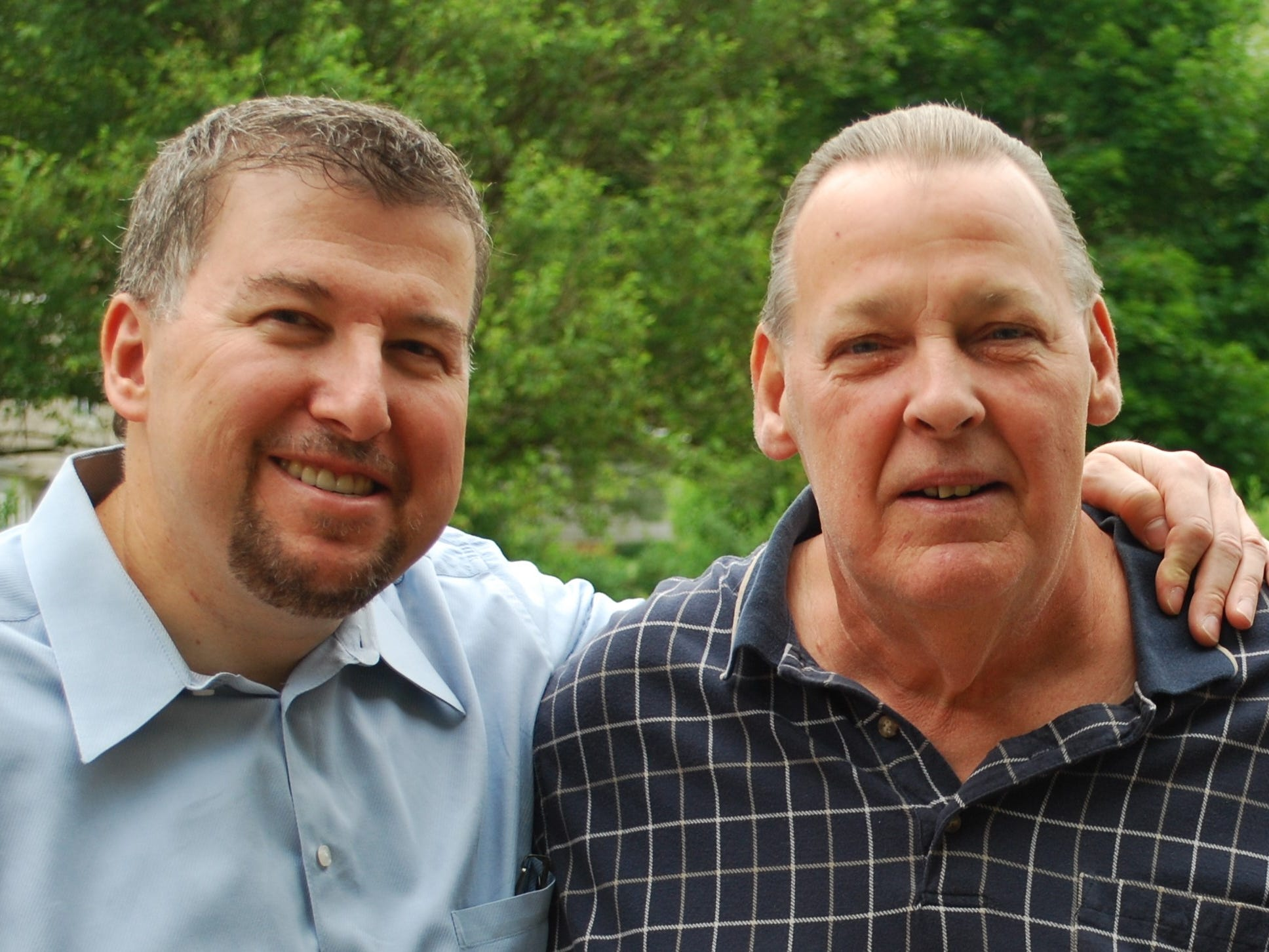 Fred Feiner (Left) is running for his brother Robert Feiner (right).
