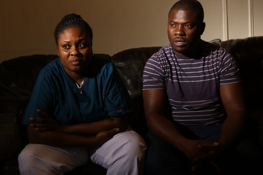 Modeline Auguste and her husband Ocroimy Dolcin are shown as they talk about their daughter Dorcase Dolcin.  Their daughter was one of at least ten people who died, at the Wanaque Center for Nursing and Rehabilitation last month of an adenovirus outbreak. Dolcin died just a few weeks after her fourth birthday. Thursday, November 1, 2018