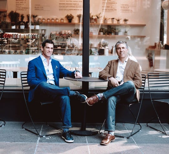 Brandt Mandia, left, and Sal Martorano, right, co-founders, want The Gathering Shops to expand into a national mall-based launch pad for new designers.