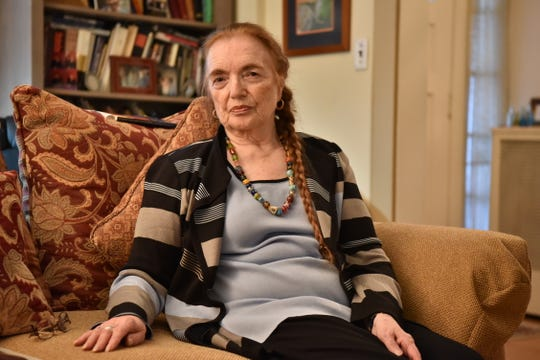 Felice Zimmern Stokes, a holocaust survivor, at her home in Teaneck, NJ.