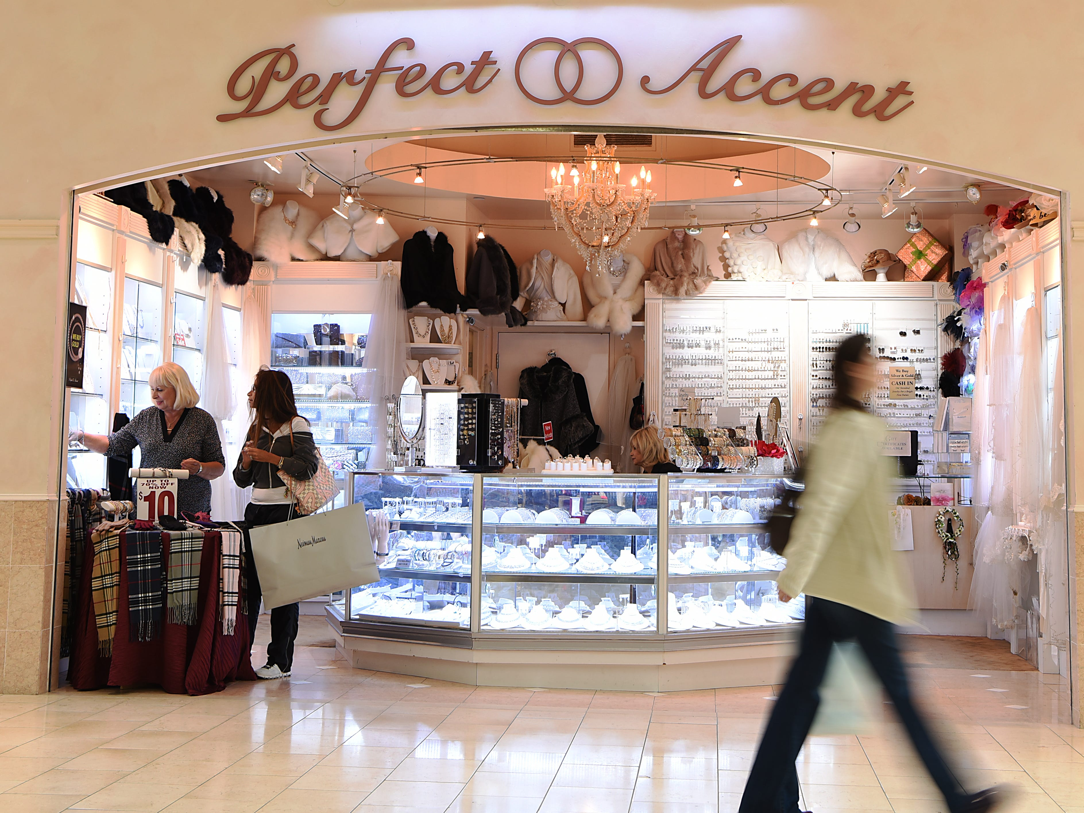 Perfect Accent, an accessories store located in the Garden State Plaza Mall, will be closing. The exterior of Perfect Accent shown in Paramus on Friday November 2, 2018.